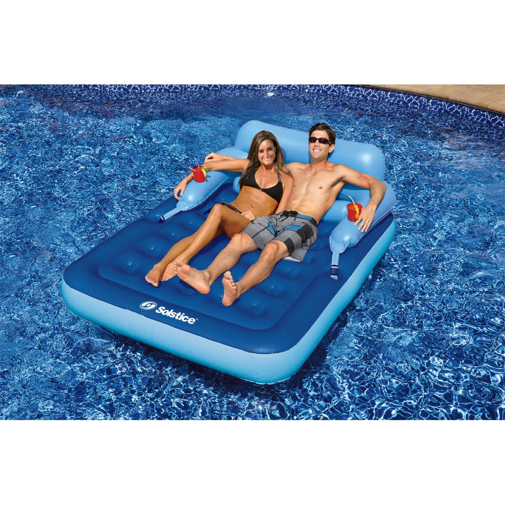 Floating bed Swim Ways Quality Spring Float Luxury Inflatable Pool Lounger Gift