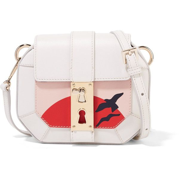 Tina Craig for Gianfranco Lotti Otto mini paneled leather shoulder bag (30.426.780 IDR) ❤ liked on Polyvore featuring bags, handbags, shoulder bags, white, wristlet purse, shoulder strap bags, genuine leather shoulder bag, white wristlet and shoulder handbags