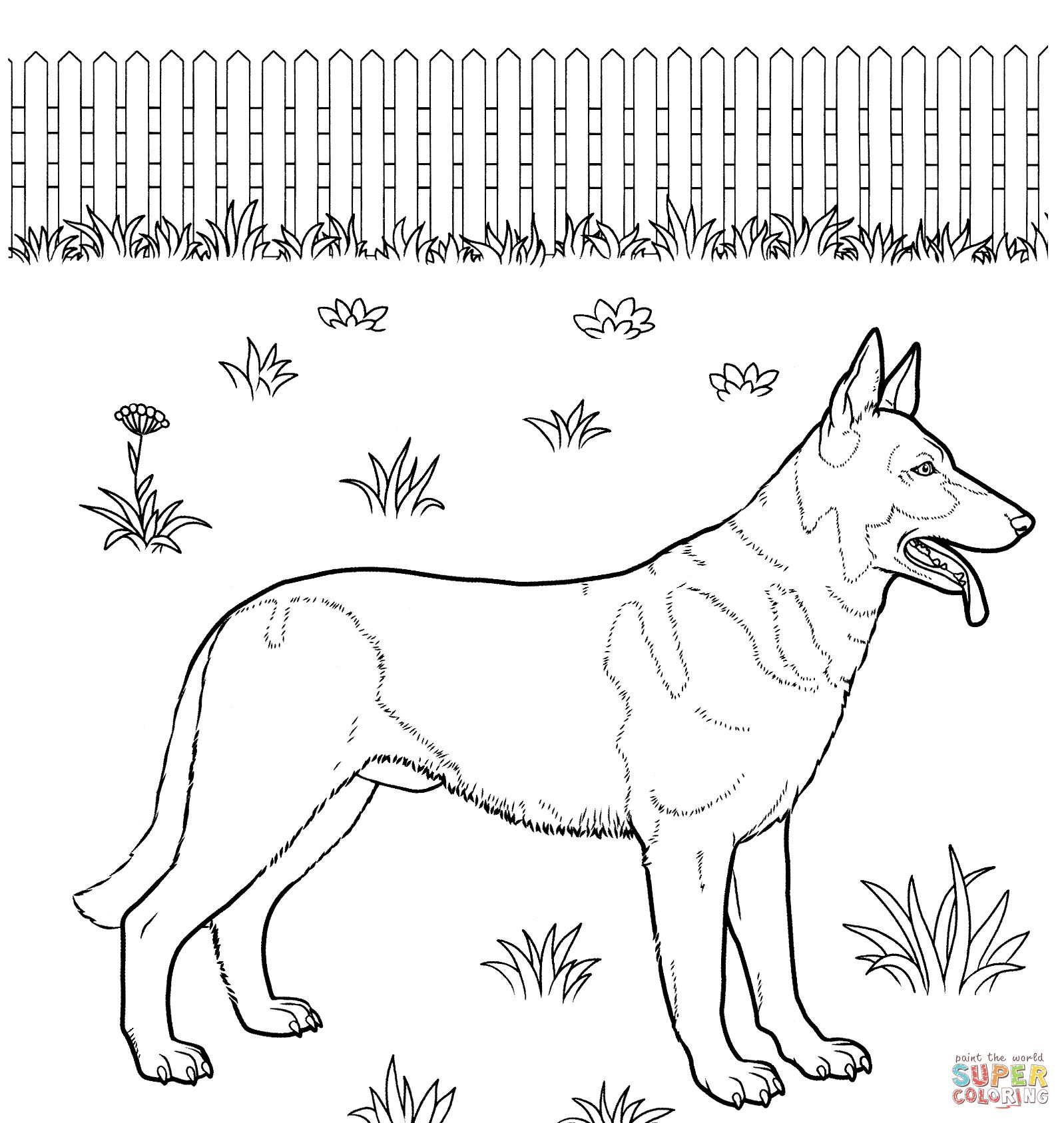 Coloring Pages Kids German Shepherd Coloring Pages To Print