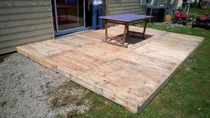 How To Build Pallet Deck Pallet Decking Pallet Floors