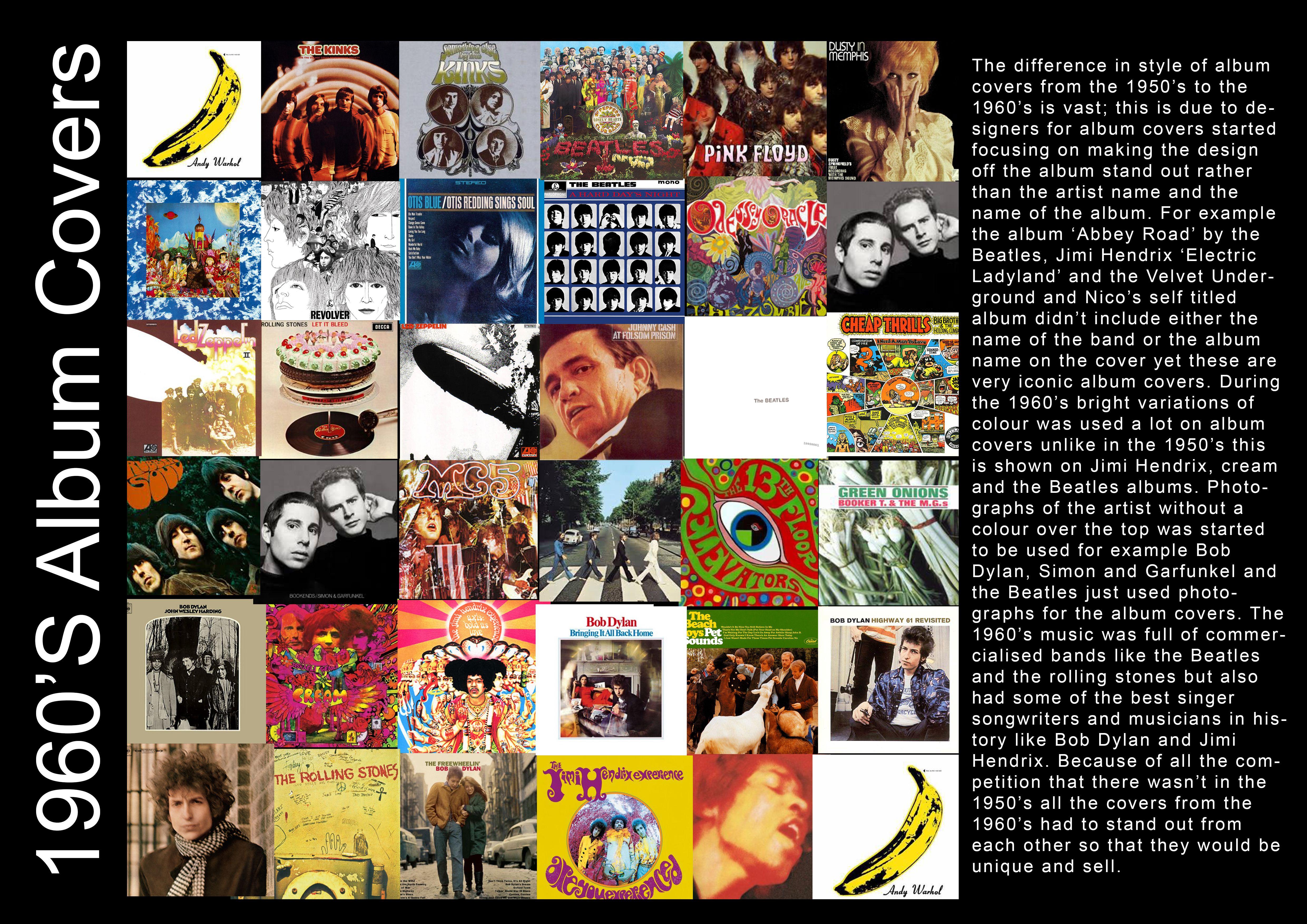 1960s album covers album covers artist names artist