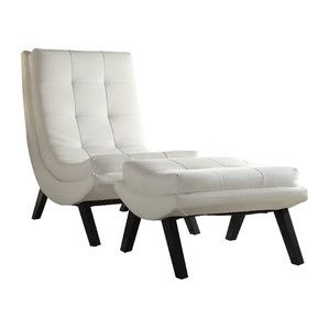 2-Piece Damon Tufted Accent Chair & Ottoman Set