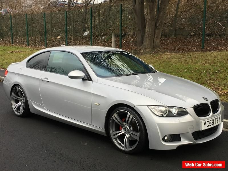 2008 58 bmw 320d m sport silver coupe diesel 177bhp huge spec leather 19 alloys bmw. Black Bedroom Furniture Sets. Home Design Ideas