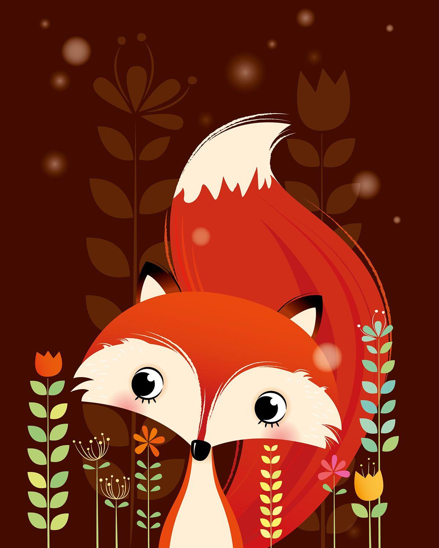 A Set Of Woodland Animals On Behance Arts Illustrations