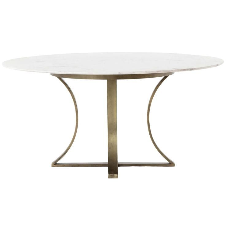 Cyrus 48 In 2020 Round Marble Dining Table Dining Table Marble