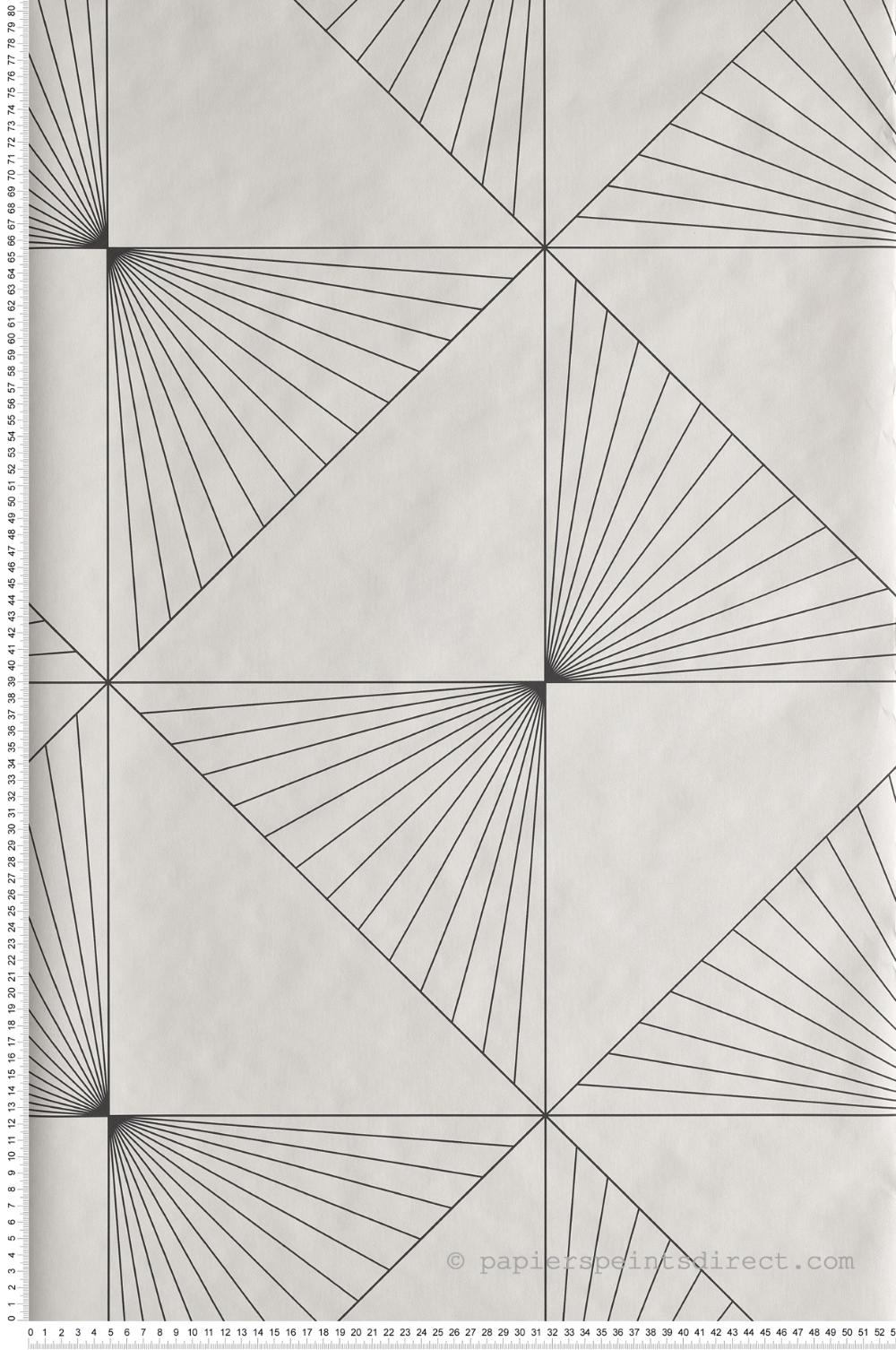 Papier Peint Noir Et Blanc Graphique papier peint graphique sunset noir et blanc - moonlight de
