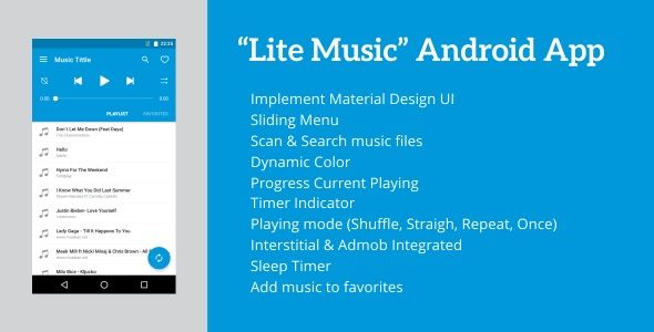 Lite Music 4 2 - Android Music Player | Graphic Art Designs