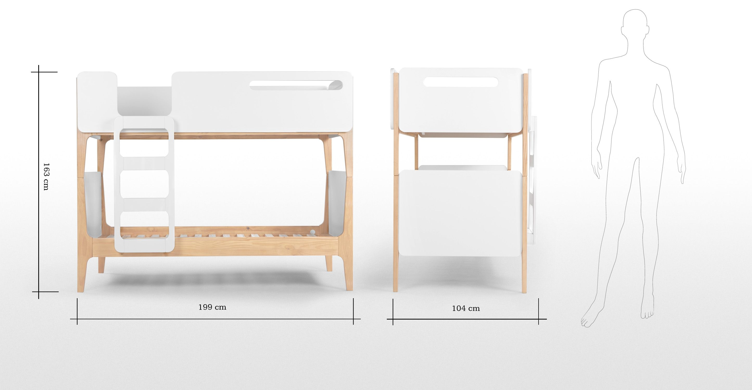 Paidi Linus Linus Bunk Bed Pine And White Christmas 2015 Pinterest Bunk