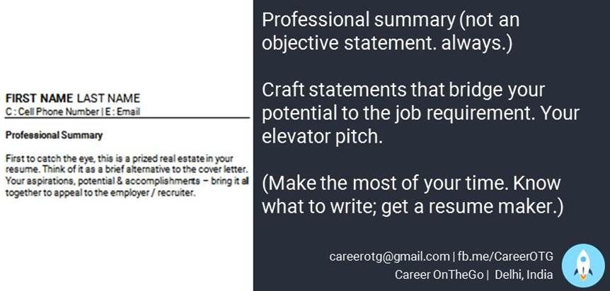 Resume Cv Job Career Use A Professional Summary To Do Justice To Your Years Of Experience Work Your Elevator Pitch To G Resume Maker Resume Career Coach