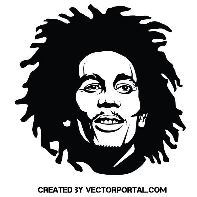 Singer Bob Marley Vector Illustration Bob Marley