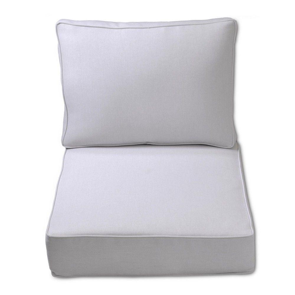 Fabron Outdoor Deep Seating Cushion Set Linen