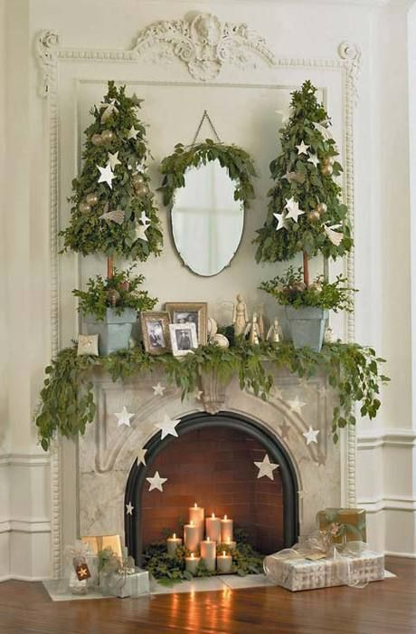 The Latest  Hottest Christmas Trends for 2017 \u2026 UPDATED Vintage - christmas fireplace decor