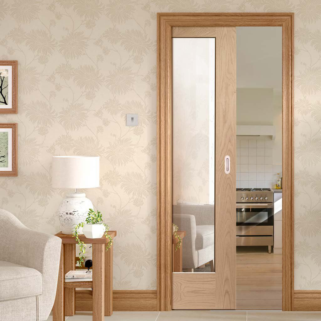 Pattern 10 Oak Single Evokit Pocket Door Mirror One Side Pocket Doors Mirror Door Pocket Door Frame