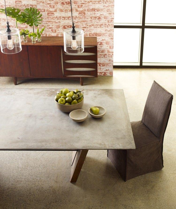 Tisch in Betonoptik selber machen - Ideen mit Effektfarbe | Esstisch ...