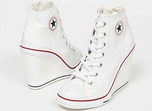 Sneakers Zip Wedge Heel Shoes
