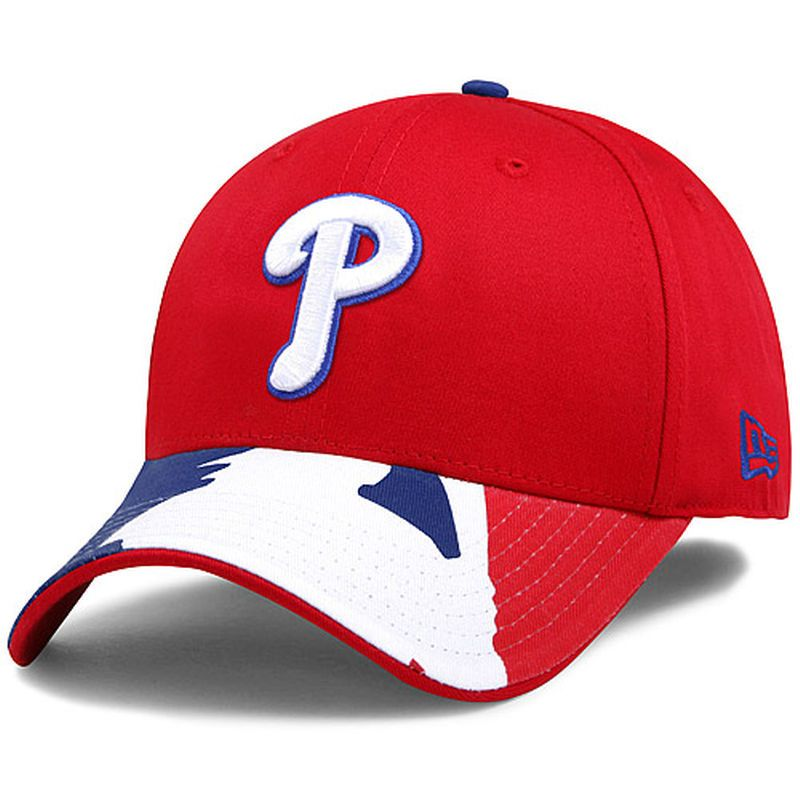 Philadelphia Phillies New Era Swing Batter 39THIRTY Flex Hat - Red ... 596407ef9a02