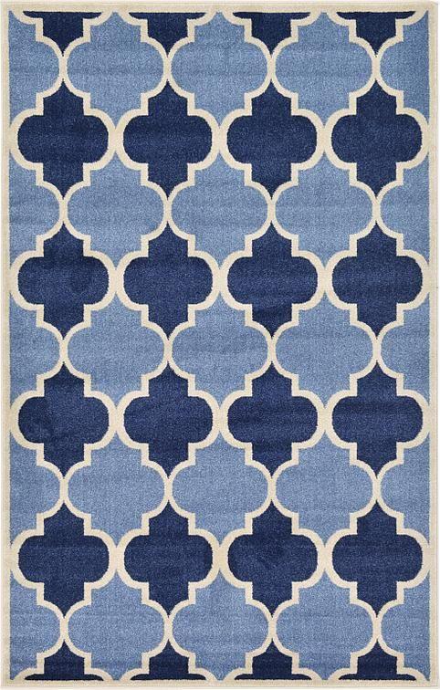 Light Blue Trellis Area Rug Decor Pinterest