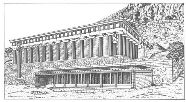 Stoa of the Athenians  Delphi, Greece 478 BC-470 BCE