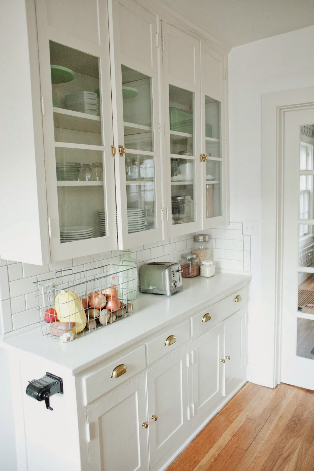 Original 1920s built ins want to recreate these with ikea for White mission style kitchen cabinets