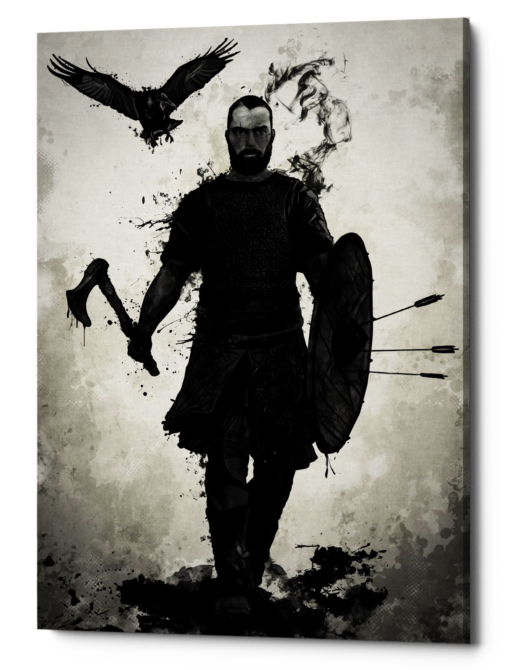 To Valhalla, Canvas Wall Art | Viking warrior tattoos ...