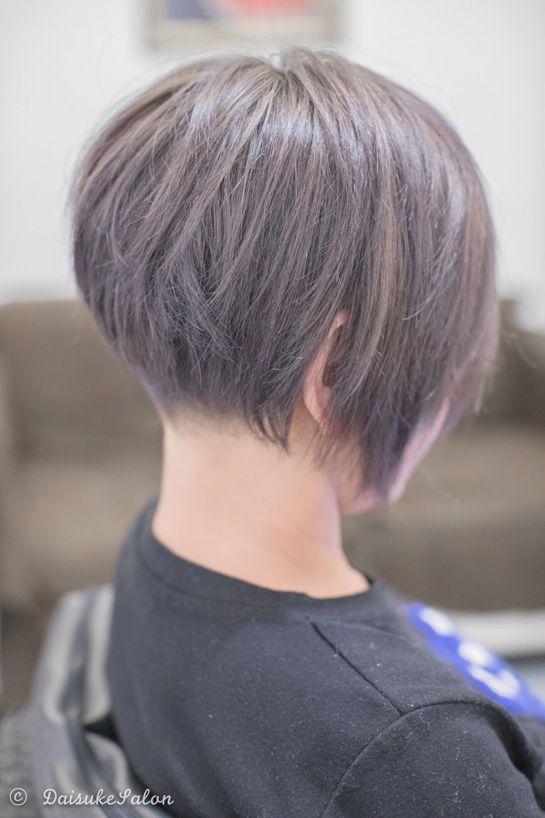 Concave Bob with Ash Brown She had dark colour before so ...