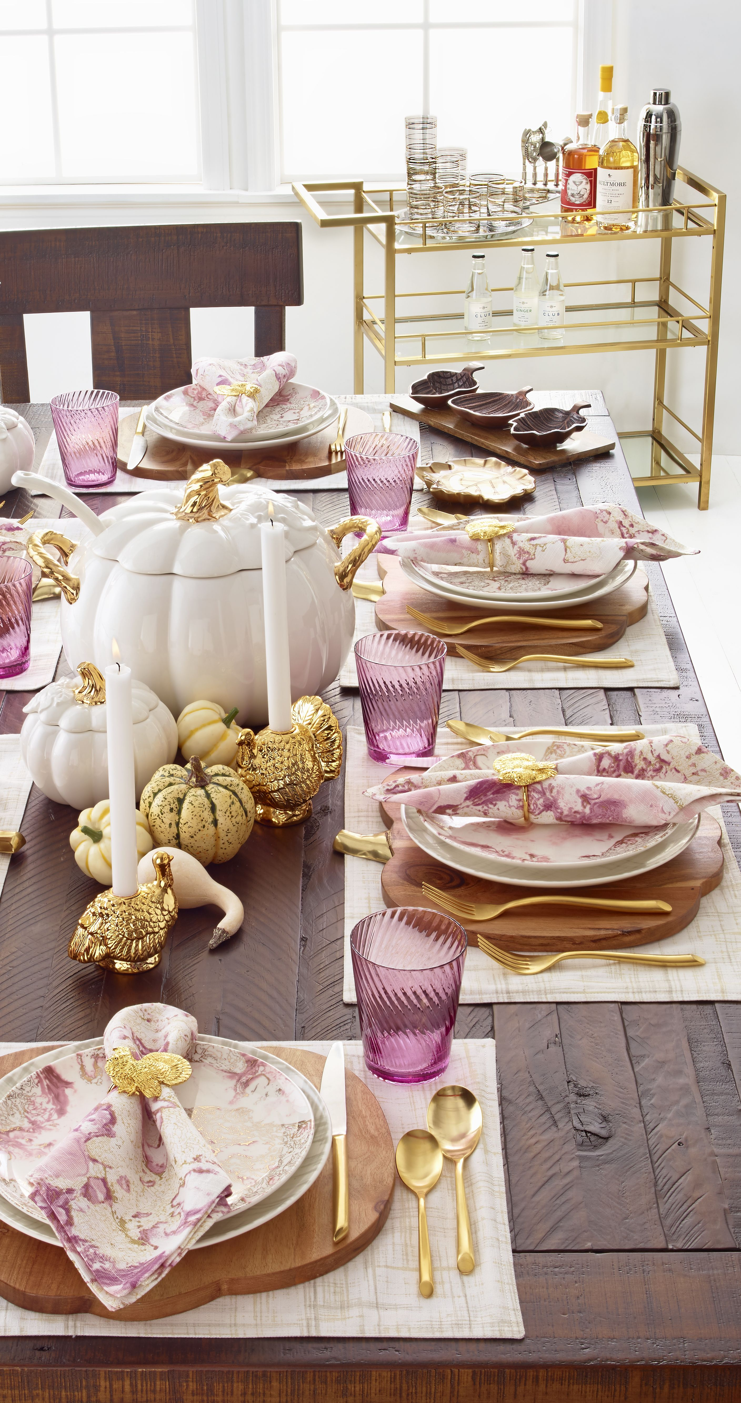 Bored with traditional whiteware? Inspired by plates in her own collection,  Martha's Harvest Collection  Thanksgiving TableThanksgiving ...