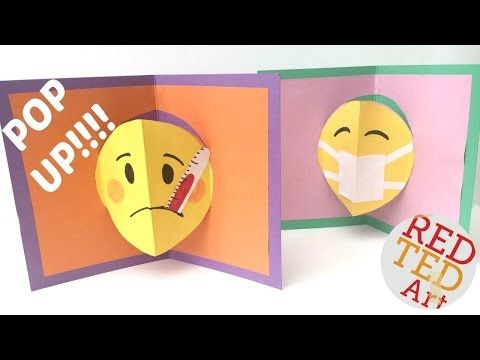 Emoji Pop Up Card Diy These Are Super Fun And Easy Pop Up Cards To Make You Can Adapt The Design To Suit Any Occassion So Emoji Diy Pop