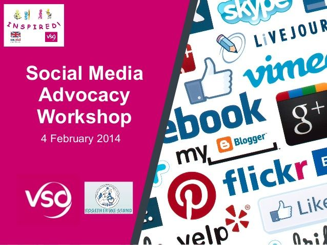 I presentation I prepared for Social Media and Advocacy workshop via slideshare