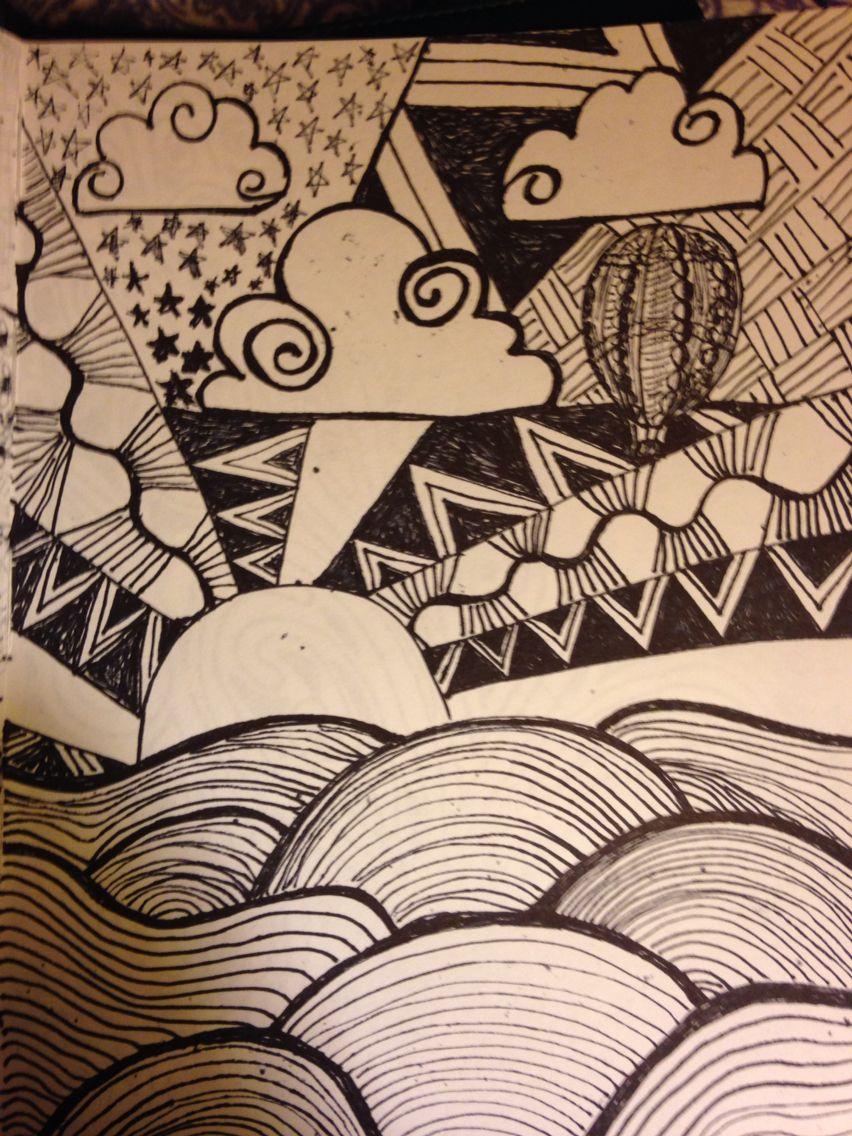 Zen tangle sketch
