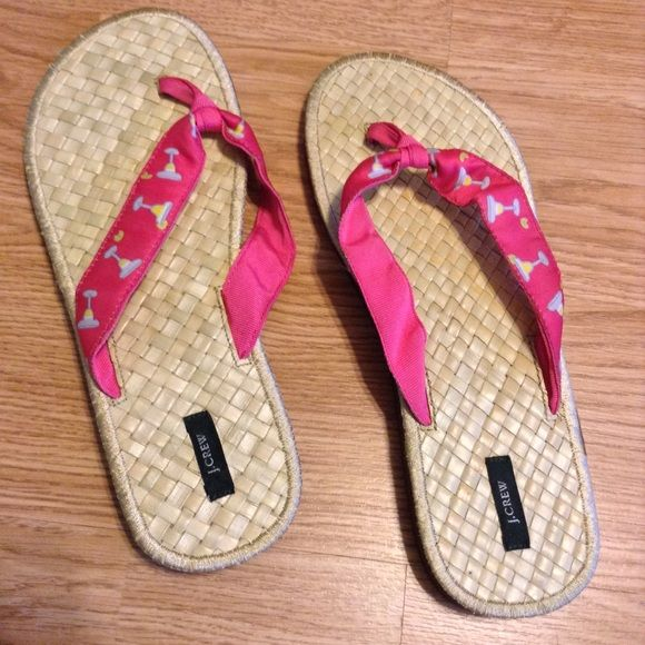 J Crew fancy flip flops NWOB J. Crew Shoes
