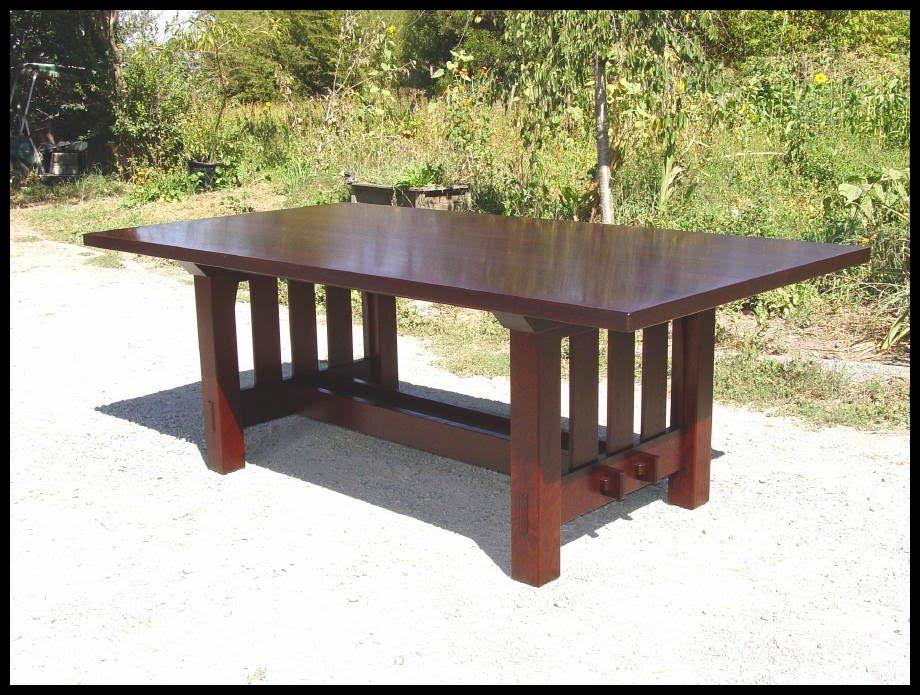 Craftsman Dining Table | Gustav Stickley Harvey Ellis Inspired Rectangular Dining  Table With No