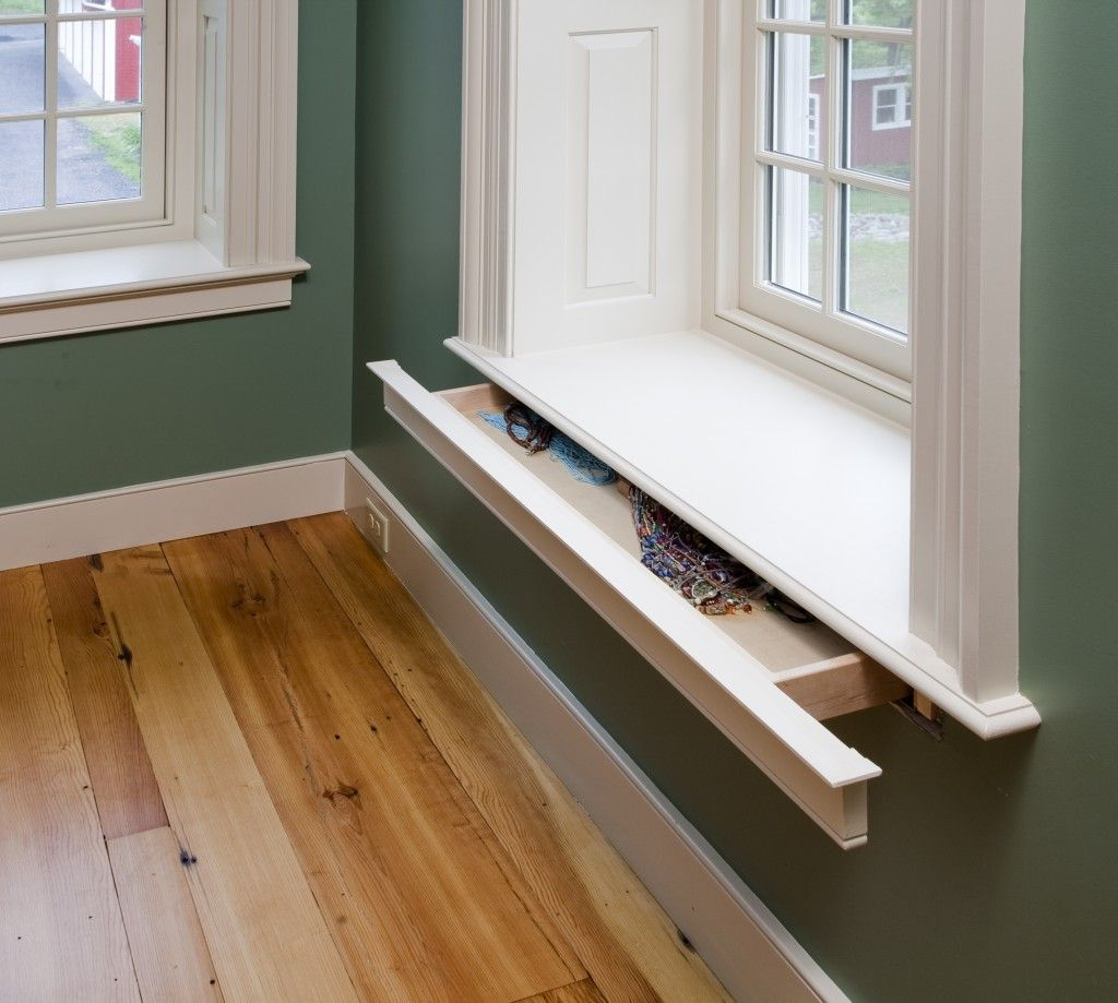 Window seat storage camps pinterest - Window Sill Hidden Drawer Great Little Ways To Add Storage In Small Or Tiny Homes
