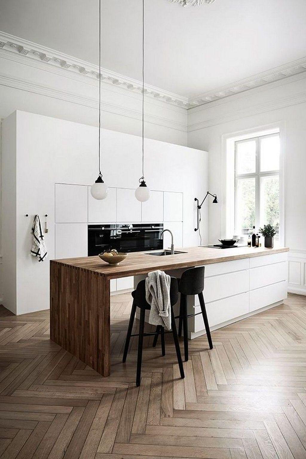 20 Elegant White Scandinavian Kitchen Decoration Ideas
