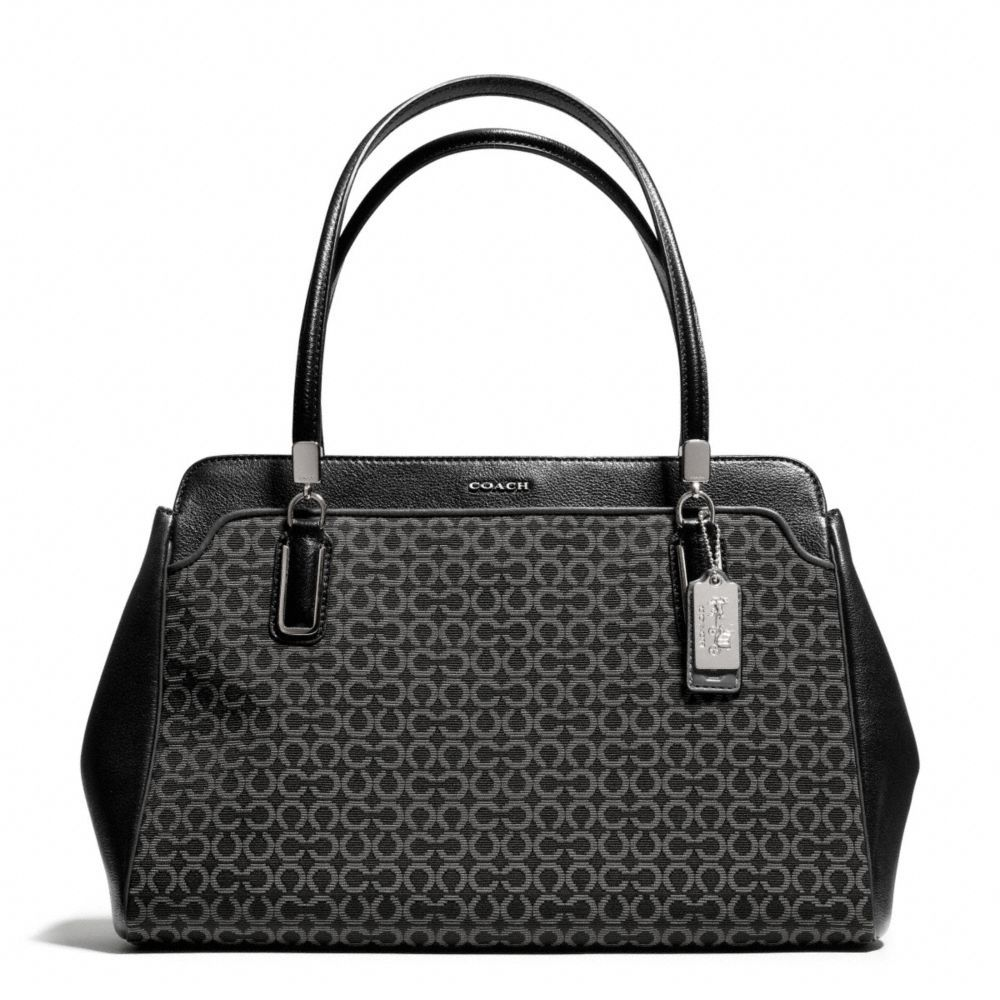 My new purse ! The Madison Kimberly Carryall In Op Art Needlepoint Fabric from Coach