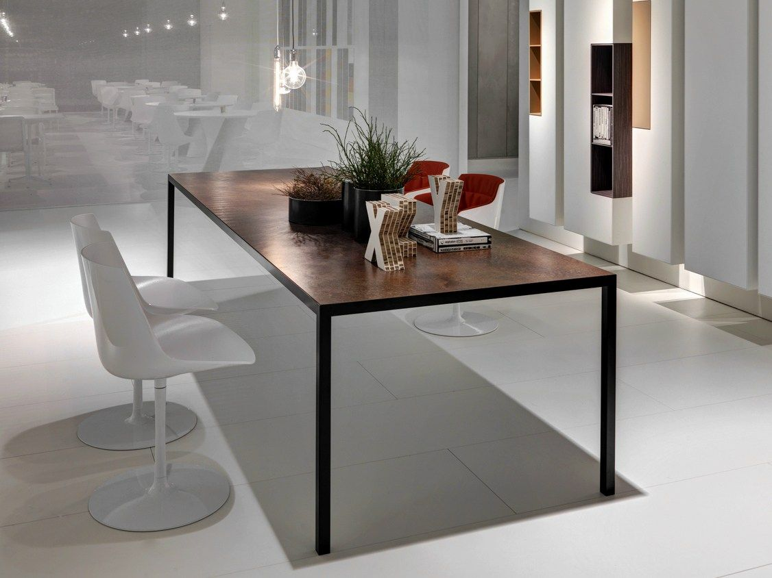 RECTANGULAR ALUMINIUM TABLE LIM 3.0 LIM COLLECTION BY MDF