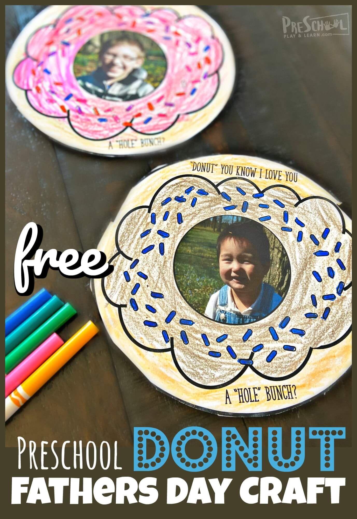 Donut Preschool Fathers Day Craft In
