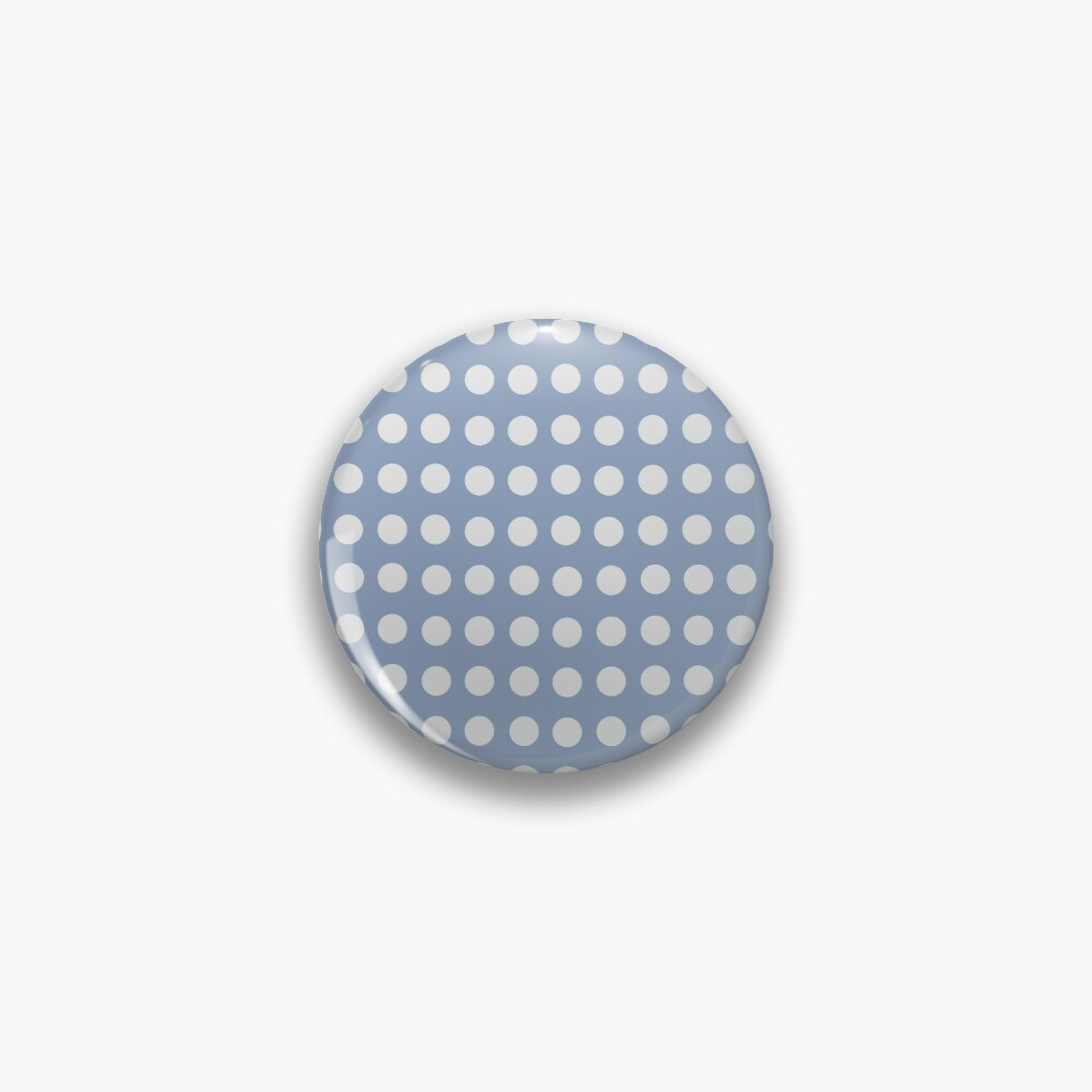 Blue White Dots Face Pin Blue And White Blue Dots
