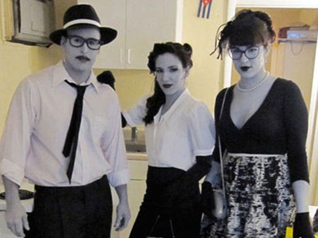 Shock them at this yearu0027s Halloween party by dressing up as characters from a silent black and white ...  sc 1 st  Pinterest & Do your friends ever tell you to stop talking every once in a while ...