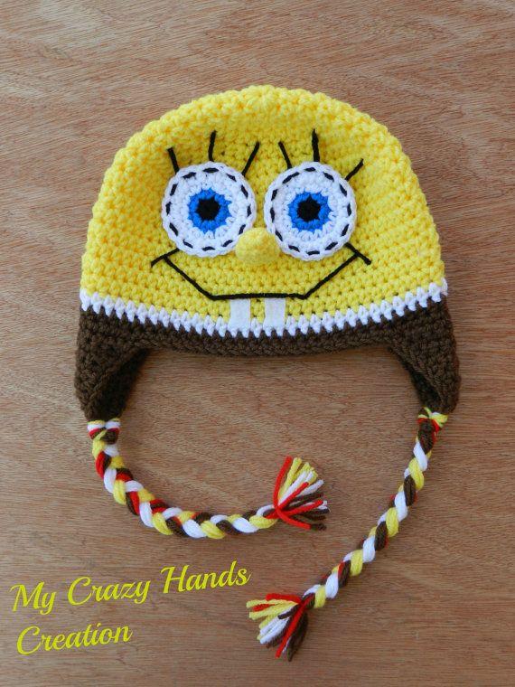 Crochet Spongebob hat, spongebob squarepants hat | karisik ...