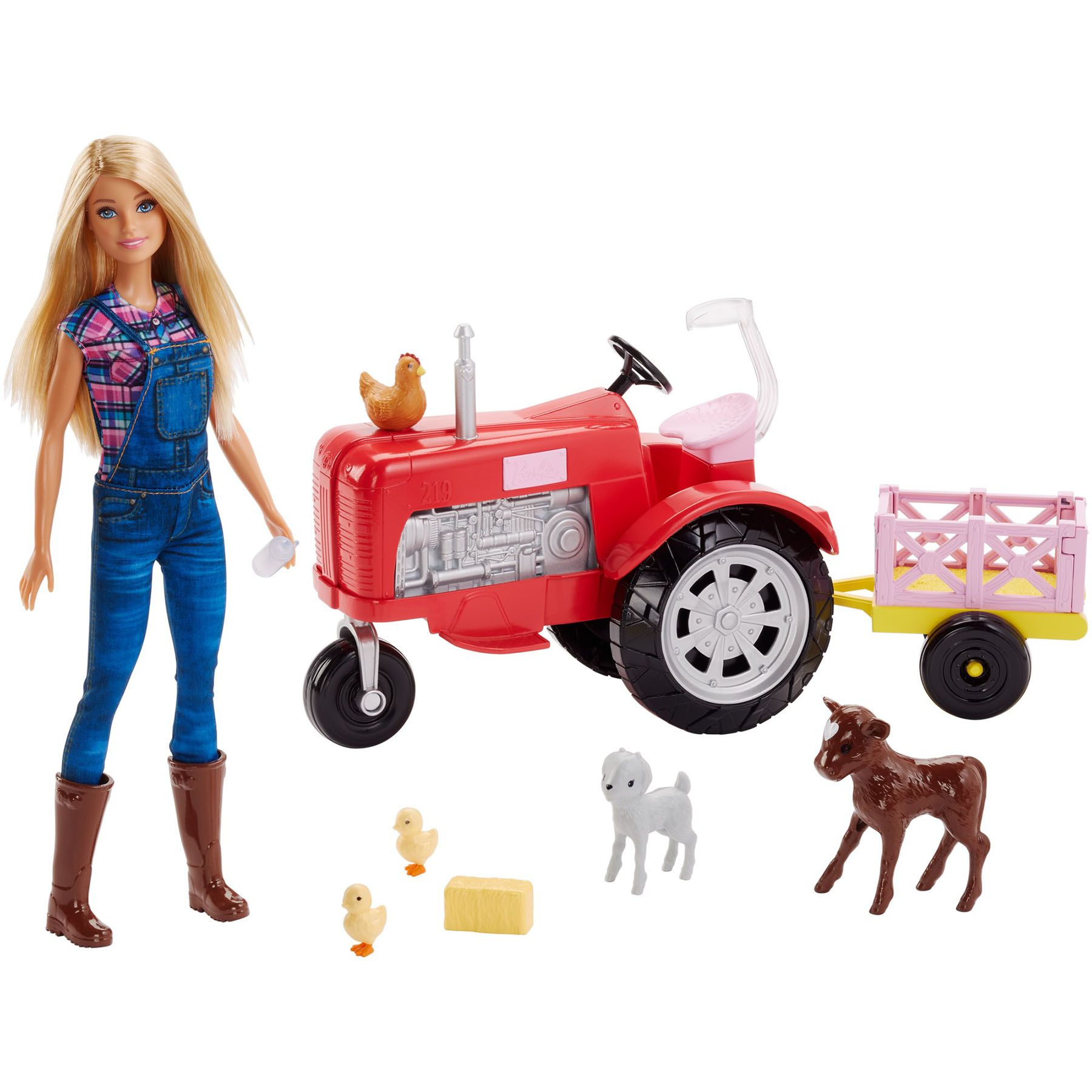 Barbie Doll and Tractor Play Set Barbie toys, Kids play