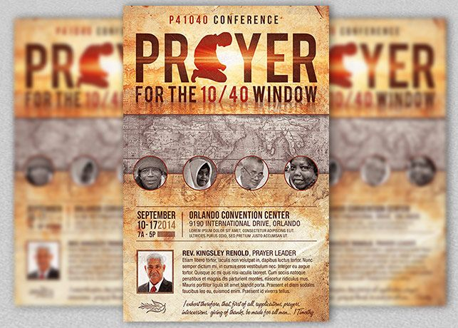 Prayer Conference Church Flyer Template is customized for church - conference flyer template