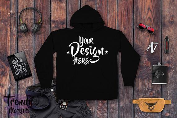Download Unisex Sweatshirt Mockup Hoodie Mockup Hoodie Flat Lay Black Sweatshirt Wood Background Men Flat Lay Sweatsh Sweatshirts Sweatshirt Designs Hoodie Mockup