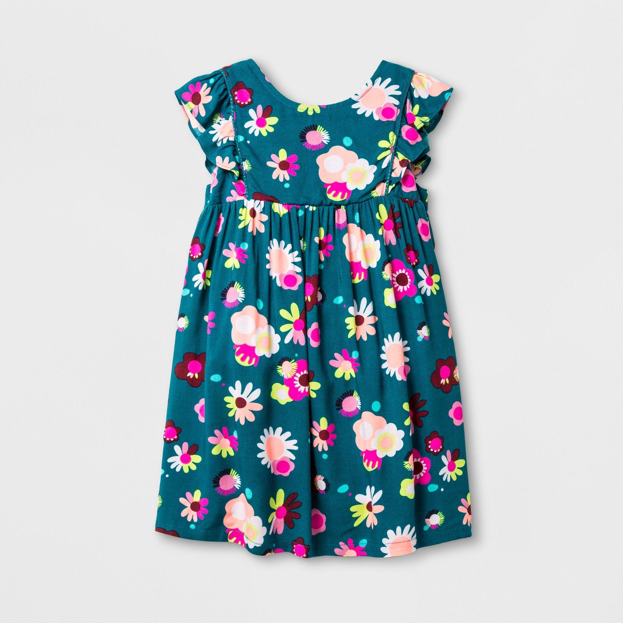 42715641499 Toddler Girls  Sleeveless A Line Dress - Cat   Jack Fiji Teal 3T ...