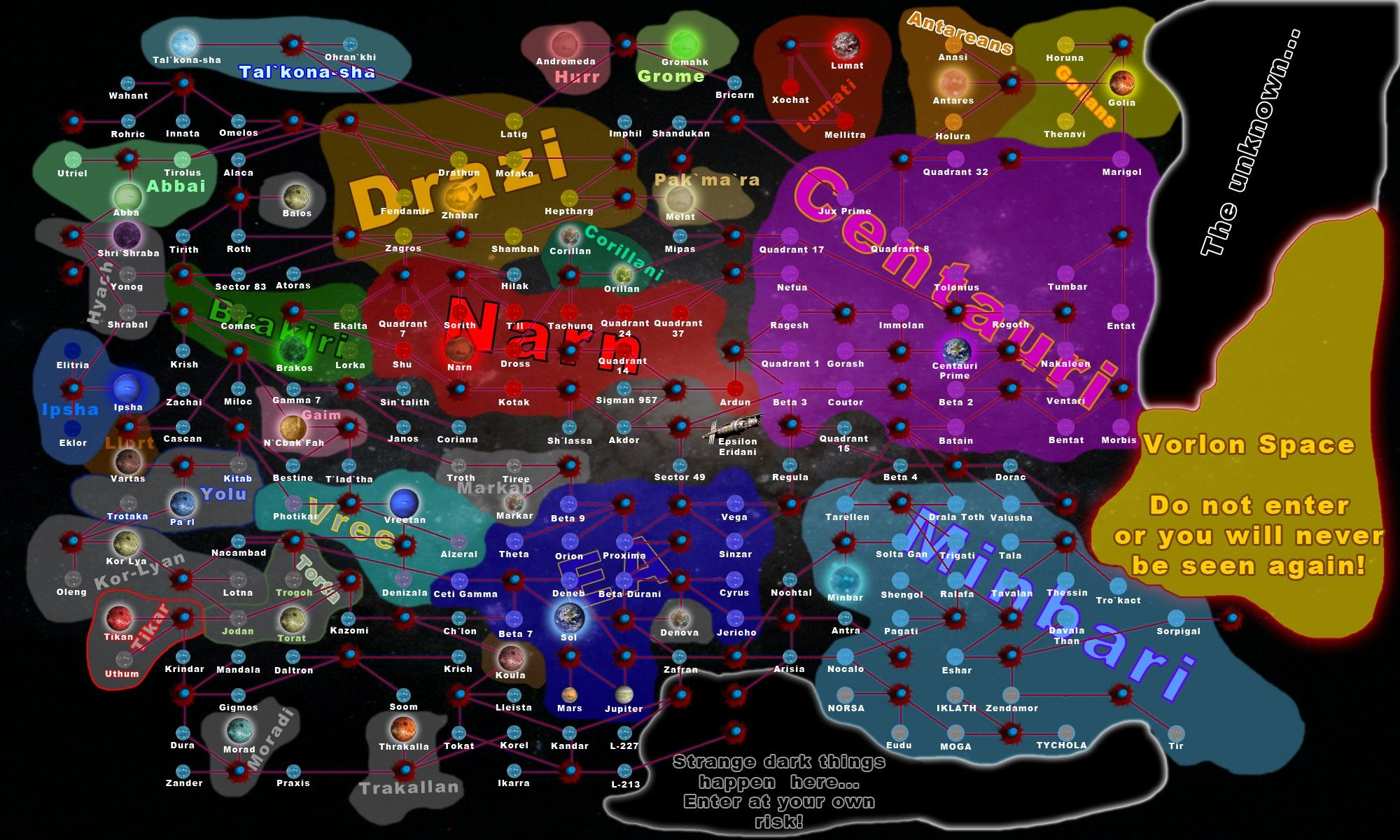 Gallery Scifi Babylon5 Babylon 5 A Dream Given Form Galaxy Map Showcasing Included Races Jpg 2000 1200 Galaxy Map Science Fiction Series Babylon