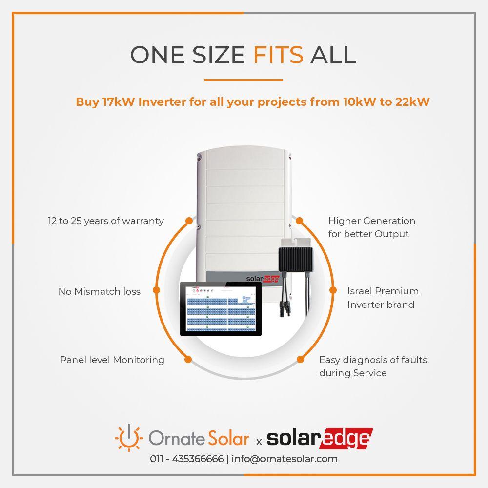 Buy Solaredge Inverter From Ornate Solar In India To Know More Visit Https Www Ornatesolar Com Solar Edge Official Or C Solar Module Solar Solutions Solar