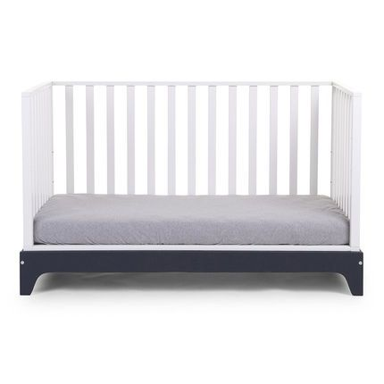 Lit Blanc Cadre Navy 70 x 140 cm Additional Lit blanc
