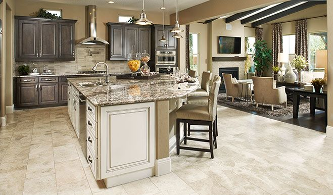 Highlights Of This Lavish Las Vegas Nv Kitchen Include Granite Countertops Stainless Steel Liances And Fixtures Rectangular Ceramic Tile Flooring