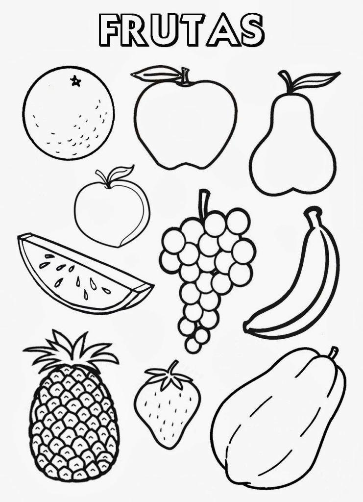 Dibujos De Frutas Y Verduras Para Colorear Jardin Frutas Para