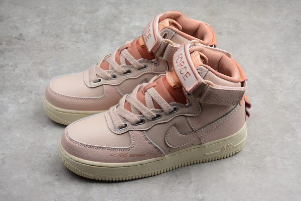 hot sale online 458b8 55663 Nike Air Force 1 High Utility Particle Beige-Terra Blush-LT Cream For Women  AJ7311-200-3