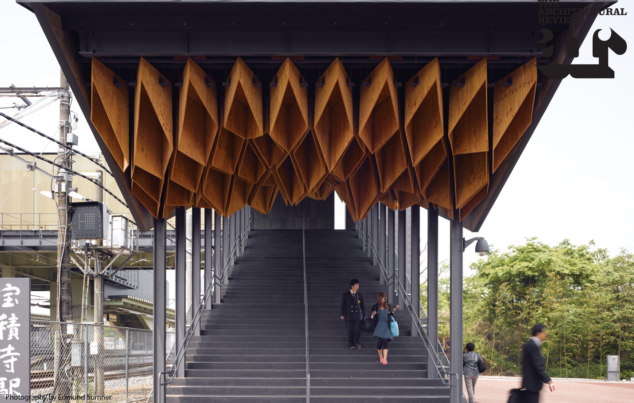 Canopy at Hoshakuji Station by Kengo Kuma and Associates ...